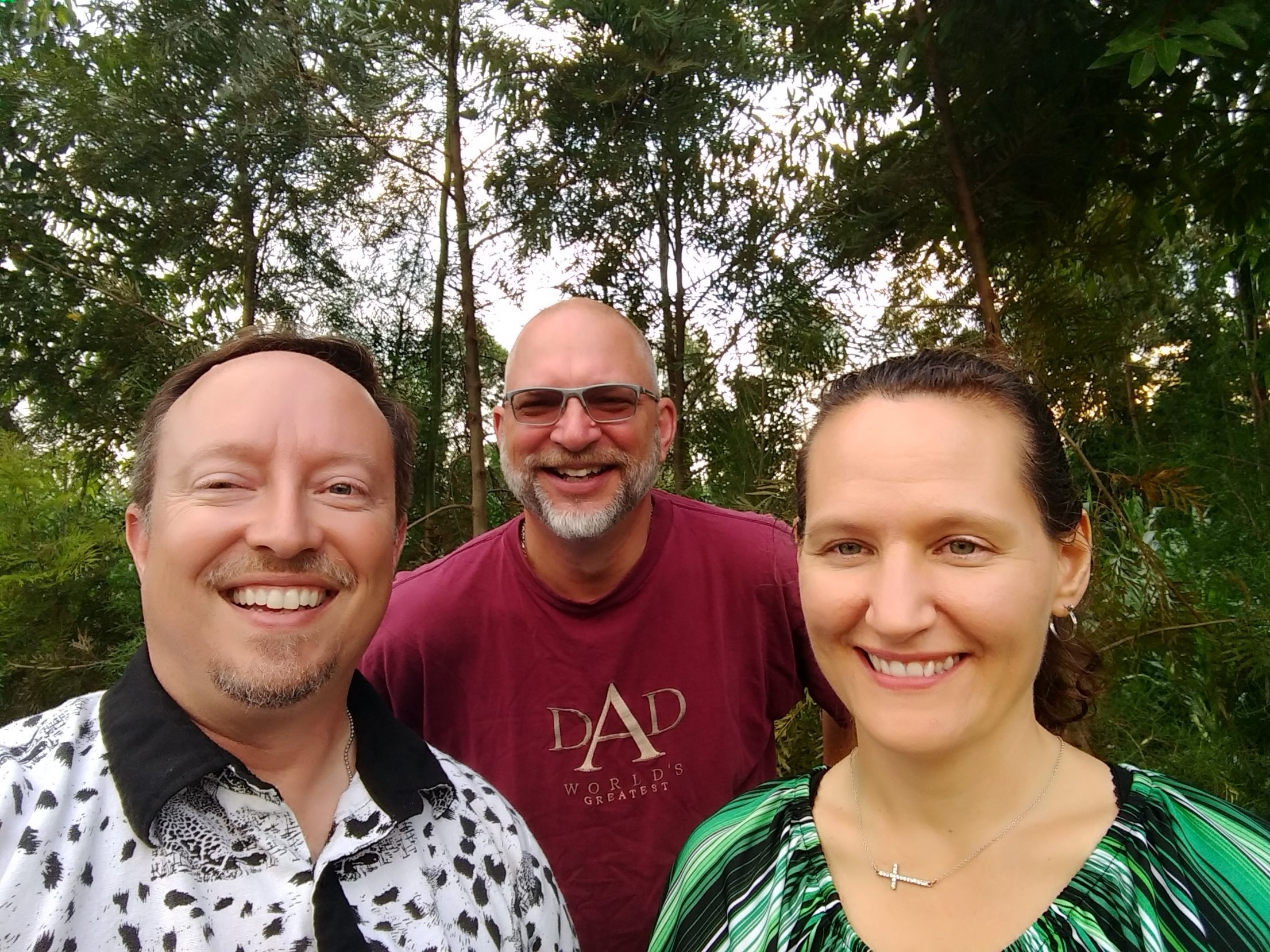 Pastor Brian, Pastor Ron, and Pastor Kelly in Kenya