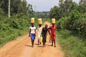 Kenyan Children Carrying Water