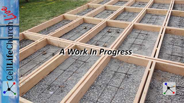 Concrete foundation forms with steel reinforcement