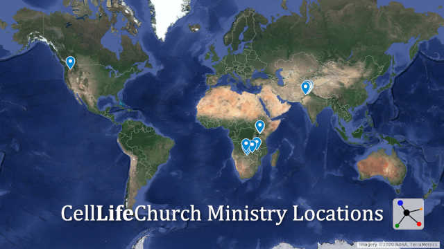 Cell Life Church Ministry Locations around the world
